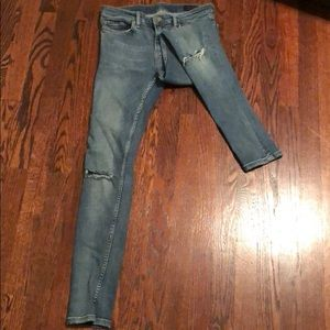 "ALLSAINTS ""Mast"" Distressed Skinny Jeans"